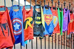 30 x SUPERHERO CAPES Mix Kids Superman Batman by OliverandMay