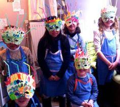 Ateliers enfants, masques, Citémômes, Rouen