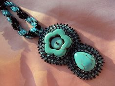 Beadwork, bead embroidered necklace by LucanaDesigns via Etsy, 50 euro
