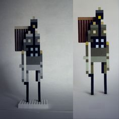 Sword and Sworcery out of Legos.  Awesome!  @Brendan Sera-Shriar Where's the Mega Bloks remix?