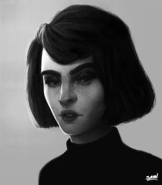 Echa un vistazo a este proyecto @Behance: \u201cGirl Portrait\u201d https://www.behance.net/gallery/52571883/Girl-Portrait