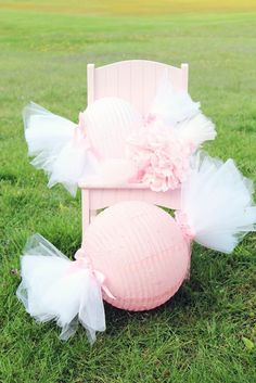 "cool idea for a candy themed party...Cute ""Candy"" Globes, baby shower girl"