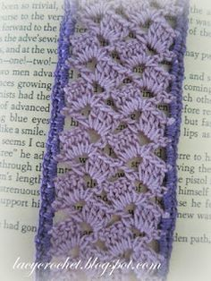 Lacy Crochet: Lacy Lilac Bookmark.. Free pattern!!