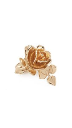 Oscar de la Renta Rose & Leaf Vine Ring