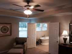 Master Bedroom Neutral Colors master bedroom - recessed ceiling - neutral color - the chatham