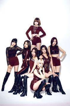 Choah, Jimin, Yuna, Hyejung, Minah, Seolhyun, Chanmi, Youkyoung
