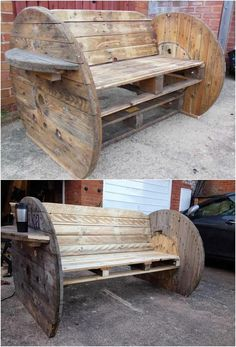 Giving an outlook effect to the house through the custom designing of the bench with the wood pallet is no doubt one of the dramatic idea. Give a look at this outstanding wood pallet bench designing that is so breath-taking looking in appearance.