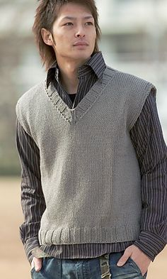 Ravelry: 26-5 Cotton Neat Vest pattern by Pierrot (Gosyo Co., Ltd)