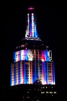 July 4, 2013: Empire State Building Lights for the 37th Annual Macy's Fireworks.