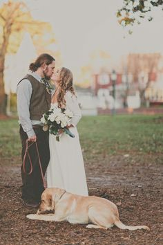 furry wedding friend // photo by Maria DeForrest Photography, flowers by Flowers By Alison // View more: http://ruffledblog.com/burley-oak-brewery-wedding/ #dogs #weddingdogs
