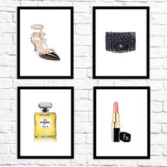 Oh chic! These new free watercolor art prints can be downloaded now at chicfetti.com/decorate