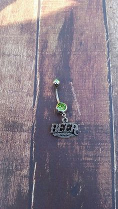 Beer Charm Navel Belly Button Ring for the Beer by GunPowderWoman Gunpowder Woman Country Girl Hunting Country Wedding Fishing Jewelry Bullet Jewelry Redneck  Country Deer Hunting Browning Camo Realtree Mossy Oak Guns Firearms Shotgun Shell Jewelry Archery Bullet Ring Bullet Earrings Huntress