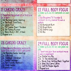 New printable! How to get an inner thigh gap in 4... | ❤ BLOGILATES ❤