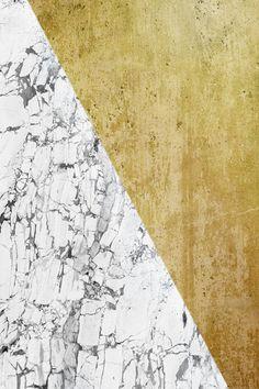Marble vs GOld Art Print