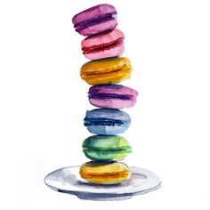 Clip art, Macaroons and Food illustrations