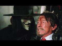 "Hugo Weaving and John Hurt in ""V for Vendetta"" Comic Movies, Comic Book Characters, Comic Books, Fictional Characters, Series Movies, Movies And Tv Shows, V For Vendetta 2005, Doctor Who, V For Vendetta"