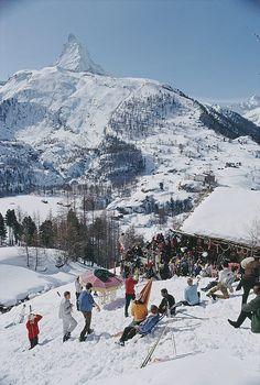 Slim Aarons, Zermatt, High Society, Ski Season, Winter Season, Photo D Art, Vintage Ski, Thing 1, Snow Skiing