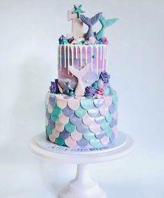 Mermaid Birthday Cakes, Mermaid Cakes, 6 Cake, Tier Cake, 3rd Birthday, Birthday Ideas, Online Cake Delivery, Drip Cakes, Ariel