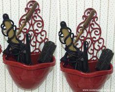 Transformando achados de R$1,99 em decoração #3: organizador prático, porta-colar e suporte para listinha de compras - Casinha Arrumada