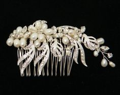 Handmade Austrian Swarovski Crystals With Fresh Water Pearls Hair comb 0234 by 21 Bridal Accessories, http://www.amazon.com/dp/B006VXV8ME/ref=cm_sw_r_pi_dp_2I5krb075910R