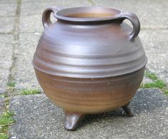 Every medieval household owned a pot like this. Steel kettles were more expensive and only richer families could afford one.    This cooking pot is a replica of a 13th century German original, but it doesn't differ from its later kinds. It is completely handmade of clay from the Rhineland. It measures 19 cm and has a maximum diameter of 25 cm.  Please note: first put the cooking pot in water for a while before you use it with great heat.    This item is a museum replica.