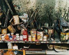 Francis Bacon's Studio. Messy but brilliant.