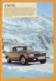Znalezione obrazy dla zapytania Mercedes SL 450 Original 1973 dealership brochure
