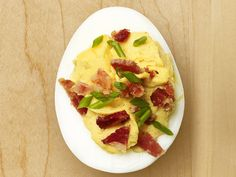Bacon Deviled Eggs recipe from Food Network Magazine.
