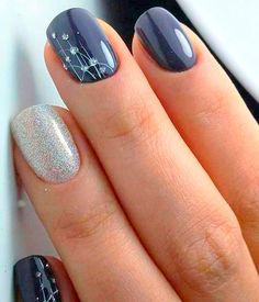 Nail Art Ideas 53 Outstanding Bridal Nails Art Designs Ideas 2018 2019 A Wedding Cute Nail Art Designs, Blue Nail Designs, Nail Designs Spring, Simple Nail Designs, Toenail Designs Fall, Fingernail Designs, Nagellack Design, Nagellack Trends, Winter Nail Art