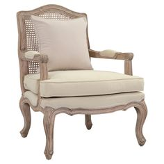 With French design influences and expertly hand-carved detailing, this teak-framed arm chair brims with sophisticated style.    Product...
