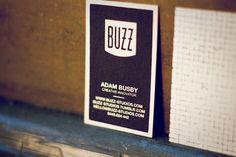 Buzz Business Cards - Buzz Studios | Brisbane graphic design and illustration