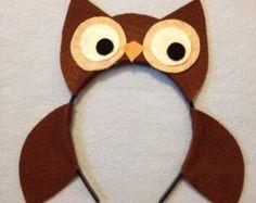 Orejas de criaturas de búho bosques naturaleza animal salvaje tema bosque ojo diadema cumpleaños partido favores suministros traje sombrero de invitación