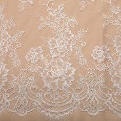 Tecido renda chantilly branco blanc - Maximus Tecidos | Loja Online