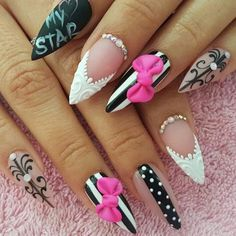 Trend Stiletto Nails in Stiletto Coffin Nails; Love Nails, Red Nails, Pretty Nails, Hair And Nails, Pastel Nails, Bling Nails, American Nails, Nail Jewels, Best Acrylic Nails