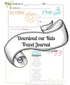 Kids Printable Travel Journal - My Family Vacation Planner