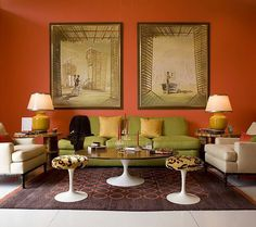 brown and orange living room curtains for window 101 best rooms images modern paint color portfolio