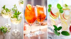 När vi sammanställde listan över årets 10 populäraste drinkar hade vi en klar vinnare: Aperol Spritz! Limoncello, Bellini, Mojito, Sangria, Flute, Vodka, Alcoholic Drinks, Champagne, Frozen