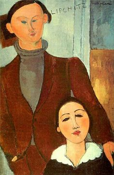 Modigliani, an Italian Jew, lived a bohemian lifestyle in pre-1920's Paris