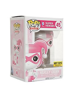 """<p>Harley Quinn (Pink Hearts) is given a fun, and funky, stylized look as an adorable collectible vinyl figure!</p>  <p>Hot Topic exclusive!</p>  <ul> <li>3 3/4"""" tall</li> <li>Vinyl</li> <li>Imported</li> <li>By Funko</li> </ul>"""