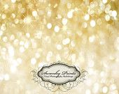 4ft x 3ft GOLD Bokeh GLITTER HOLIDAY Vinyl Backdrop / Custom Photo Prop