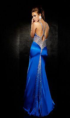 Pretty dress! Love the BLUE!!