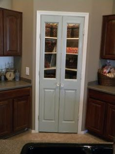 Narrow French Doors Interior Google Search Corner Pantry Kitchen Small Closet
