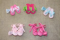 Ribbon Scupture Hair Clips/Shoe Hair by CutiePopClippies on Etsy