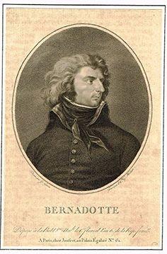 """Antique Portrait - """"BERNADOTTE"""" - Engraving - 1800"""