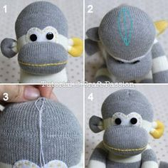 Make your own sock monkey. Have to try this sometime. <3 gifts for the babies