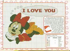 Gratis Disney patroon Minnie