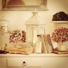 White shabby chic decoration