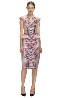 Coral Morph Print Day Dress by Bibhu Mohapatra - Moda Operandi