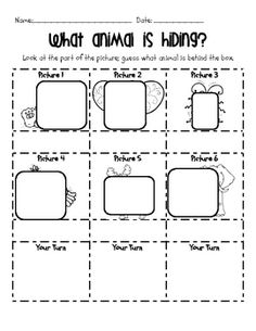 This is a making predictions whole group or center activity. This includes 6 color animal pictures for you to display and also a recording sheet.  ...