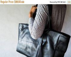 SUMMER SALES Leather Tote Bag CarryAll Shoulder Bag Laptop